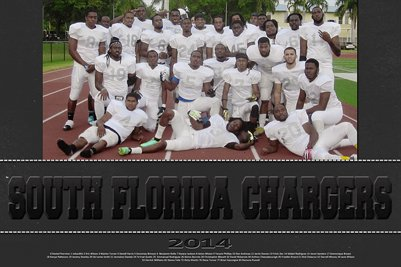 2014 Team Poster South Florida Chargers