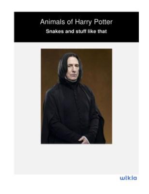 Animals of Harry Potter