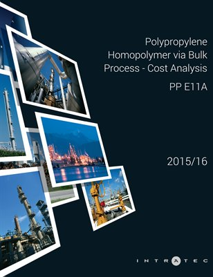 Polypropylene Homopolymer via Bulk Process - Cost Analysis - Polypropylene E11A