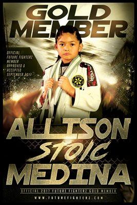 Allison Medina Gold Diploma Poster