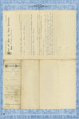 1885 Deed, Peters to Crone, Miami County, Ohio