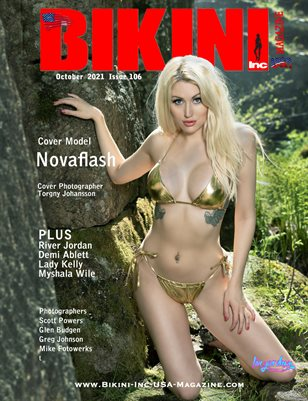 BIKINI INC USA MAGAZINE - Cover Model Novaflash - October 2021