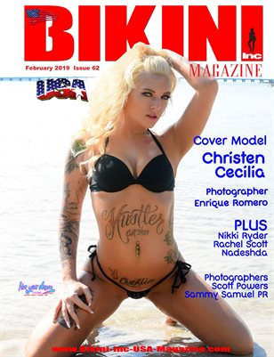 BIKINI INC USA MAGAZINE - Cover Model Christen Cecilia - February 2019