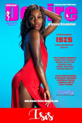 INTENSE DESIRE MAGAZINE COVER POSTER - Cover Model Isis - March 2019