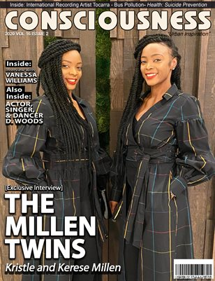 The Millen Twins featured on Cover of Consciousness Magazine