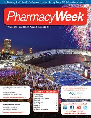Pharmacy Week, Volume XXIII - Issue 28 & 29 - August 3 - August 23, 2014