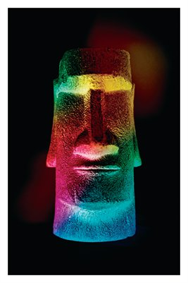 Rainbow Easter Island Head (Poster)