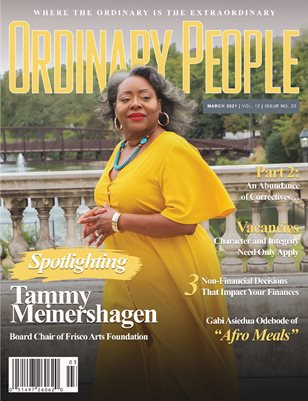 ORDINARY PEOPLE | March 2021 | Vol 12 | Issue 33