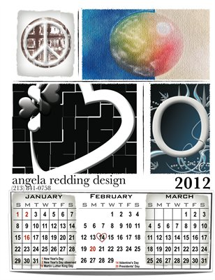 angela redding design 2012 Collector's Calendar