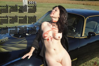 2021 SEXY VAMP TRANS AM PINUP POSTER