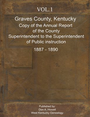 1887-1890 VOL.1, THE ANNUAL REPORT OF THE COUNTY SUPERINTENDENT TO THE SUPERINTENDENT OF PUBLIC INSTRUCTION