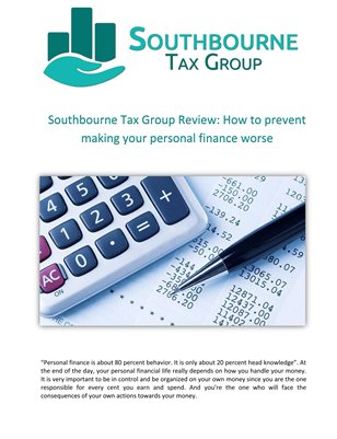 Southbourne Tax Group Review: How to prevent making your personal finance worse