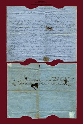 1862 Letter from Pvt. PETER PLEASANT DAVIS to ALBERT MCALISTER