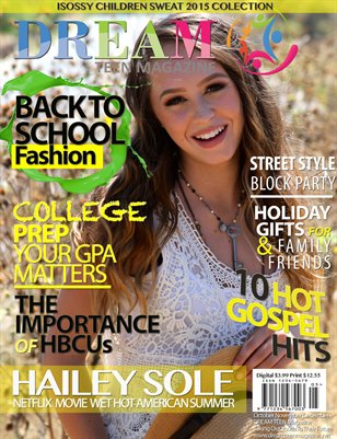 DREAM TEEN Magazine FALL 2015 October - December
