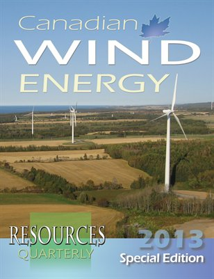 Resources Quarterly - Canadian Wind Energy 2013