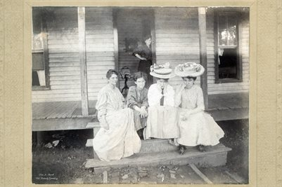 """SUNDAY AFTERNOON"", JESSIE EAKIN IN DOORWAY, MRS. COWARDICE, CARLYEEN, REUPAYNE, EMMIE"