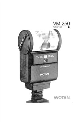 Wotan VM 250 Studio Flash Instruction Manual