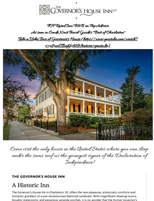 Mansions for Weddings in Charleston
