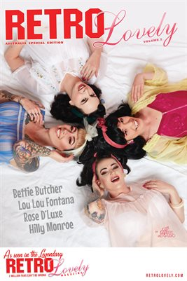 Bettie Butcher - Rose D'Luxe - Lou Lou Fontana - Hilly Monroe Cover Poster