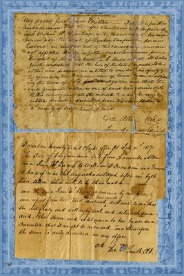 (PAGE 3-4) 1817 Deed, Granville Allen to William B. Branham, Bourbon County, Kentucky
