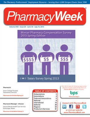 Pharmacy Week, Volume XXII, Issue 23, June 30-July 14, 2013