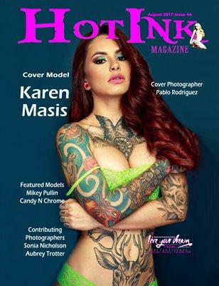 HOT INK MAGAZINE - Cover Model Karen Masis - August 2017
