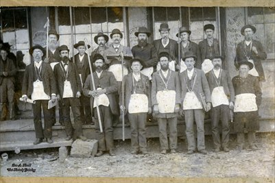 Milburn Masonic Lodge Members, J.N. Sanford's Dry Goods & Grocery, Milburn, Kentucky