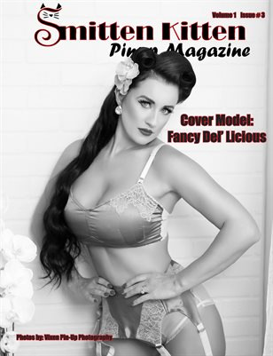 Smitten Kitten Pinup Magazine Cover 3 Fancy Del' Licious March 2020 Issue