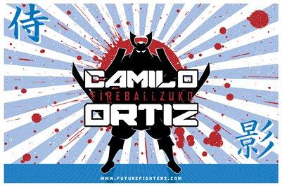 Camilo Ortiz Samurai Name Design Poster