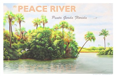 TROPICAL FLORIDA ART - PUNTA GORDA VINTAGE POSTCARD (noveau) 19