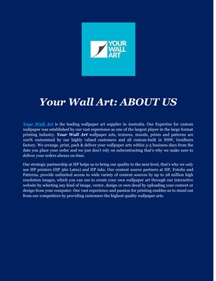 Your Wall Art: ABOUT US