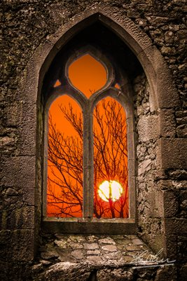 """Sunrise at Clare Abbey"" Poster"