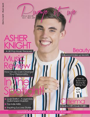 Pump it up Magazine - Asher Knight - A UK Pop Music Treasure!