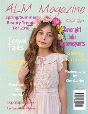 "ALM Child-Teen Magazine, ""Top Spring Models"", Issue 72, Vol.1 April 2018-Julia"