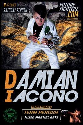 Damian Iacono Yellow Grunge Poster