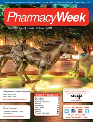 Pharmacy Week, Volume XXIV - Issue 3 & 4 - January 18 - January 31, 2015