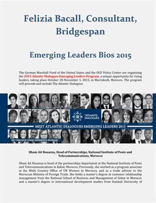 Felizia Bacall, Consultant, Bridgespan: Emerging Leaders Bios 2015