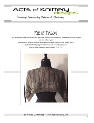 Eye of Dagon Shawl Knitting Pattern