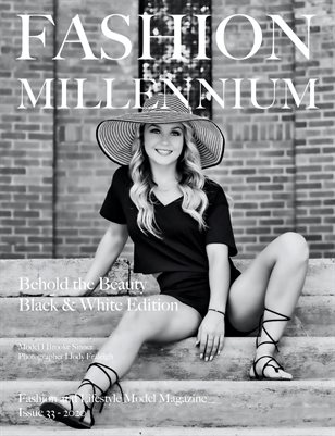Fashion Millennium Model Magazine Black and White Edition 33