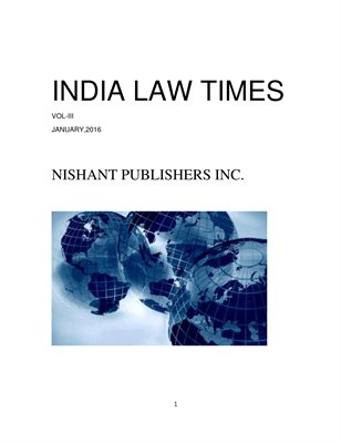 INDIA LAW TIMES VOL - III