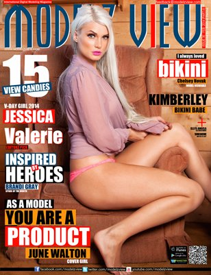 MODELZ VIEW MAGAZINE FEB 2014 PART II COVER GIRL : JUNE WALTON