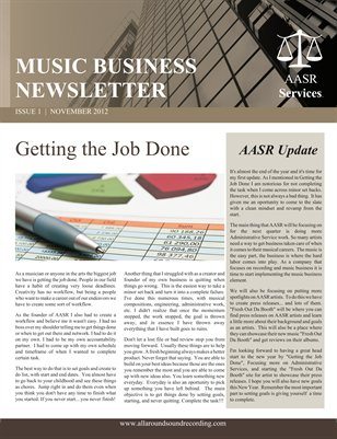 All Around Sound Recording Music Business Newsletter