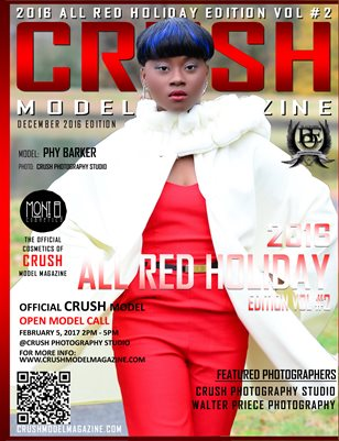 CRUSH MODEL MAGAZINE 2016 ALL RED HOLIDAY EDITION VOL #2