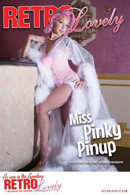 Miss Pinky Pinup Cover Poster