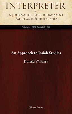 An Approach to Isaiah Studies