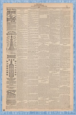 (PAGES 3-4) Mayfield Monitor, March 6 1885, Graves County, Kentucky
