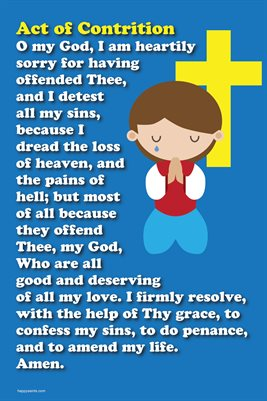 image about Act of Contrition Prayer Printable referred to as Joyful Saints Prayer  Satisfied Saints Act of Contrition