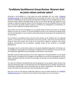 Tyre&Auto Southbourne Group Review: Waarom doet de juiste uitlaat controle zaken?