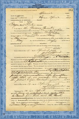 1924 State of Kentucky vs. Raymon Whitis, Graves County, Kentucky