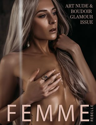 Femme Rebelle Magazine June 2019 ART NUDE / BOUDOIR GLAMOUR ISSUE - Bodyscape Boudoir Cover